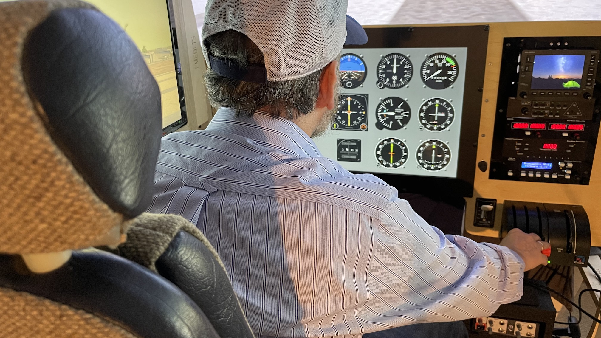 Instructor view with pilot 1